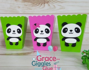 10 Panda Themed Snack/Favor Boxes