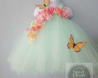 Mint flower girl, fairy dress, fairy costume, fairy photo shoot, mint tutu, birthday tutu, Fairy Princess, Mint dress, toddler tutu
