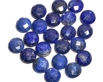 22 Pieces Lapis Lazuli Faceted Loose Gemstones Lot 8mm to 8.3mm Round Shape Natural Lapis Cut Stone Semi Precious Gems Jewelry Making