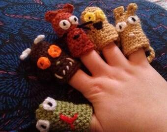 Crochet Gruffalo Finger Puppets