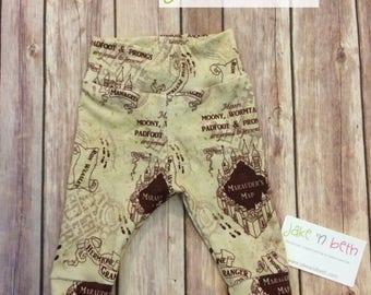 Baby pants, toddler pants - Marauder's Map