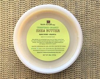 Organic Shea Butter, Raw Shea Butter, Unrefined Shea Butter, Shea Butter Raw, Moisturizer, Fair Trade, Skincare, Vegan, Hair Care, DIY, 8oz