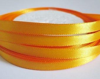 23 m reel 6mm orange satin ribbon