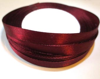23 m reel red bordeaux 10mm satin ribbon