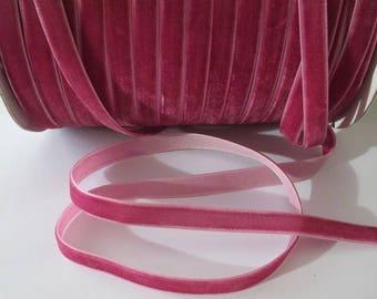 1 m width 10 mm fuchsia pink velvet Ribbon