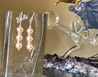 Genuine Swarovski Crystal Pearls with Swarovski Crystal AB Rondelles