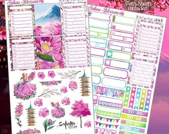 RETIRING SALE! 75% OFF | Sakura Blossoms  Planner Stickers