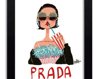 Prada - Fashion Illustration Print Fashion Print Fashion Art Fashion Wall Art Fashion Poster Fashion Sketch illustration Art Print