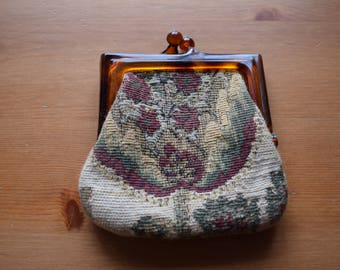 Vintage small tapestry coin purse