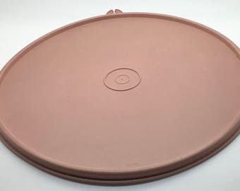 "Tupperware  Seal  230 Z 9 ""  8 3/4 "" Dusty Rose Light Soft Pink Lid Replacement Cover"