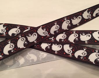 "Ghosts 7/8"" Grosgrain Ribbon"