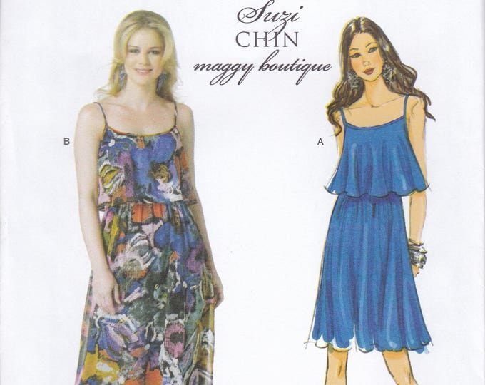 FREE US SHIP Butterick 5755 Sewing Pattern Suzi Chin Maggy Boutique Dress Size 14 16 18 20 22  Bust 36 38 40 42 44 Plus New Out of Print