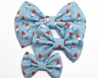 Bomb Pop Bows - 4th of July Bow - Bomb Pop Hair Bow - Popsicle Headband - Bomb Pop Headband - Popsicle Bow - Summer Headband