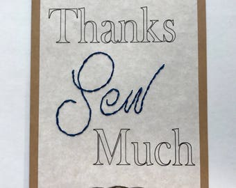 Thanks Sew Much Greeting card