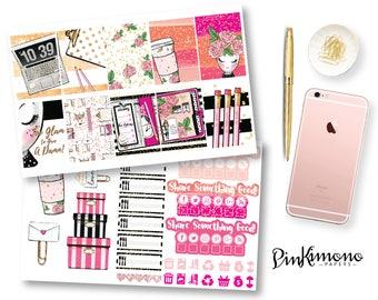 Glam Gal Weekly Planner Sticker Kit | Erin Condren Planner Stickers | Any Planner Stickers