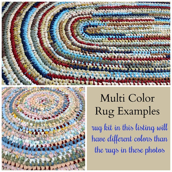 Amish Knot Toothbrush Round Rag Rug Farmhouse Style