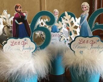 Frozen theme centerpiece