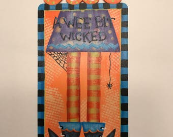 Wee Bit Wicked, Witch, Laurie Speltz, Holiday Decor, Halloween