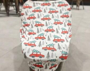 Stretchy Car Seat Cover/Nursing Cover, Stretch Carseat Cover, Christmas, Stretchy Car Seat Canopy, Boy, Girl, Stretchy Nursing Cover