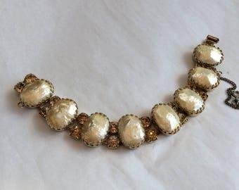 Regency bracelet - cream faux cabachons
