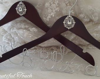 Crystal Embellished Bridal Hangers