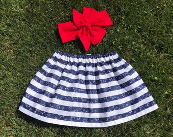 4th of July, Baby Skirt, Baby Head Wrap, Clothig Set, 4th of July Baby Skirt