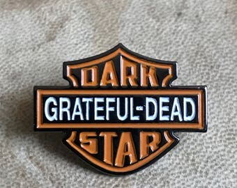 Dark star Grateful Dead hat pin