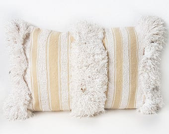 Moroccan handira pillow | Wedding Blanket cushion h23