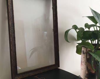 Vintage Wooden Frame with Glass