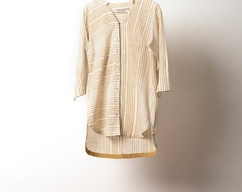 High low Panelled Front open shirt