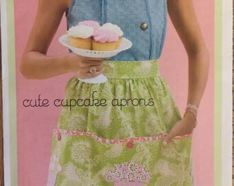 Cute Cupcake Aprons (2009) by Sew Seams.  All Sizes. Complete, unused, FF. Excellent condition.
