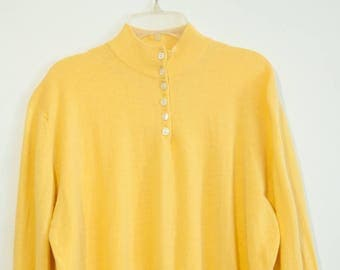 Vintage PRINGLE Sport Sweater Polo Collar Pure Wool. Size 46 / XL