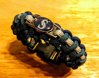 Seattle Mariners Inspired Paracord Bracelet