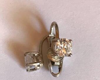 Beautiful Vintage Clip-on CZ Earrings