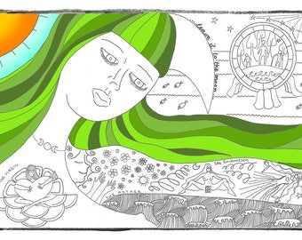 Leave it to the Moon... Very Cute Adult Coloring Meditation