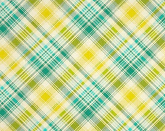 Notting Hill Tartan in aquamarine by Joel Dewberry -  cotton quilting fabric by the yard