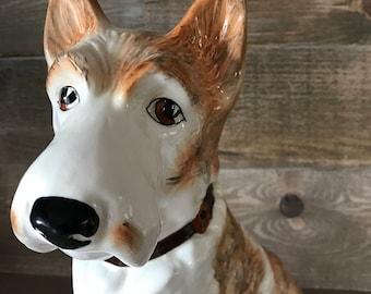 Vintage Scotch Terrier Porcelain Dog Tan and White 778504