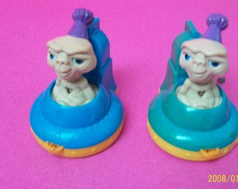 Vintage E.T Fast Food Toys 2 Wheeled 1994 Loose No Package  E.T Blue  & Teal (Wheels dont roll)  Vehicles  Great Birthday Cake Toppers