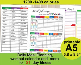 1200 calorie diet meal plan shopping list pdf