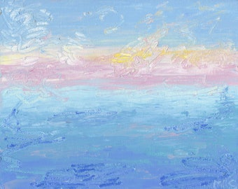 INSTANT DOWNLOAD / Scribble Seascape /Abstract Landscape Painting / Digital Download