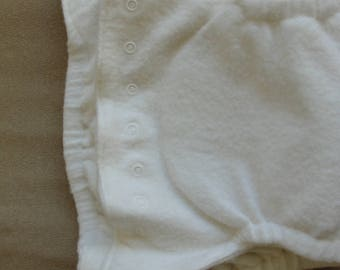Baby 100% Organic Bamboo Fleece Fitted Diaper