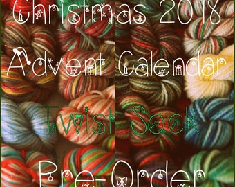 Pre-Order: Christmas 2018 Advent Calendar (Twist Sock) - Hand Dyed Yarn - 240 Grams