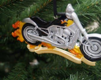 Personalised Christmas decoration, Childs motor bike decoration, personalised bike decoration, childs christmas decoration, green tractor