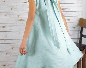 Linen Dress/Washed/ Textured/100% LINEN/LINEN dress/#LD1701