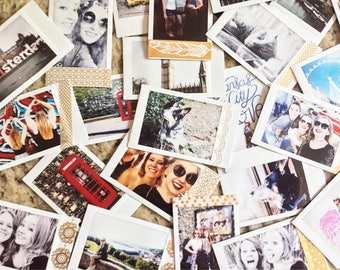 Polaroid Prints, instax prints, custom prints, polaroid, travel photos, pictures, memories, personalized photo, photo decor, picture decor,