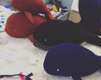 Vintage whale Plushie