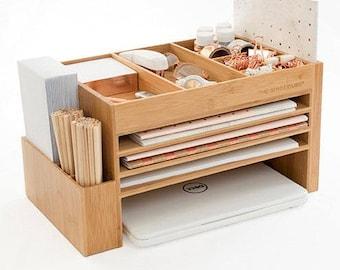 Modern, Wood Electronics Storage, Cord Organiser, Phone, Laptop Charging Station,