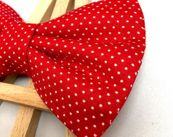 Red Polka Dot Bow Tie | Valentine's Bow Tie | Bow Tie for Dogs | Dog Bow Tie