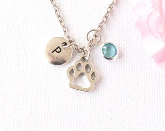 Paw print necklace, pawprint necklace, dog necklace, paw necklace, pawprint, pawprint jewelry, pawprint charm, dog paw necklace, pet lover