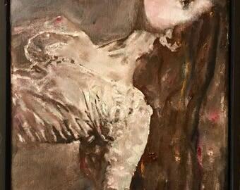 Ballet dancer original oil painting 8x10 canvas ballerina art ballet artwork